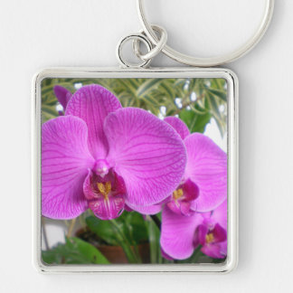 Purple Orchid Keychain