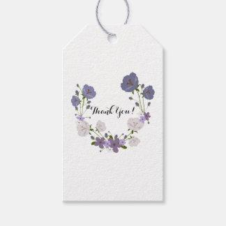 Purple Orchid Lavender Flower Wreath, Thank You