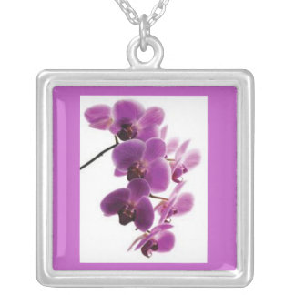 Purple Orchid Necklace