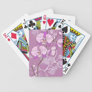 Purple Orchid Pattern Bicycle Playing Cards