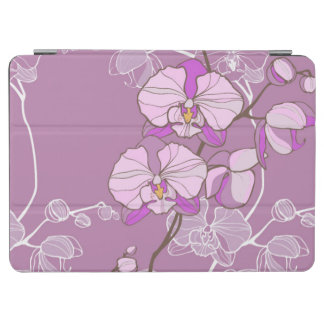 Purple Orchid Pattern iPad Air Cover