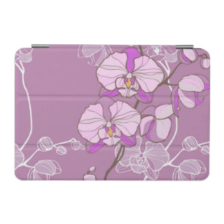 Purple Orchid Pattern iPad Mini Cover