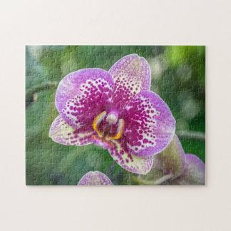 Purple orchid photo puzzle