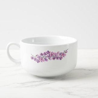Purple Orchid Soup Mug