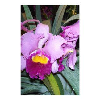 Purple Orchid Custom Stationery