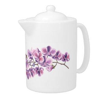 Purple Orchid teapot