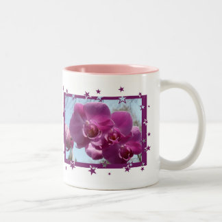 Purple Orchid Two-Tone Coffee Mug