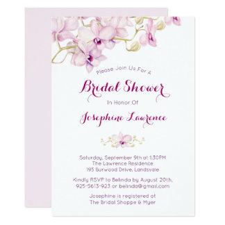 Purple Orchid Watercolor Bridal Shower Invitation