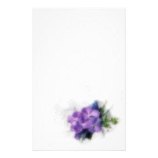 Purple Orchids 1 Custom Stationery