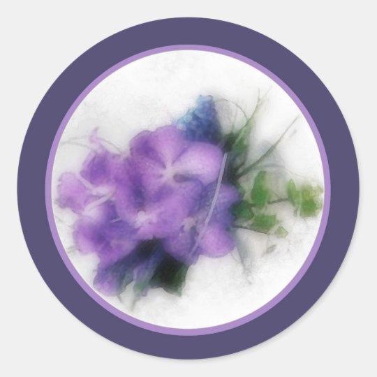Purple orchids 1 envelope seal