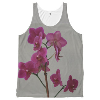 Purple Orchids All-Over Print Tank Top