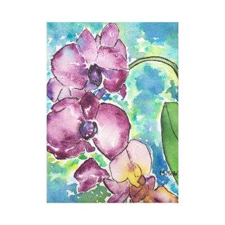 Purple Orchids canvas art