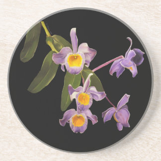 Purple Orchids Coaster