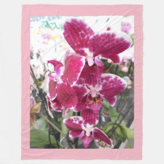 Purple Orchids Fleece Blanket