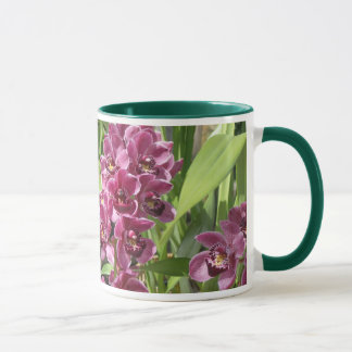 purple orchids mug