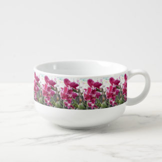 Purple Orchids Soup Mug