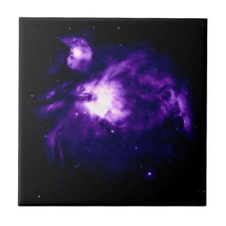 Purple Orion Nebula : Galaxy Small Square Tile