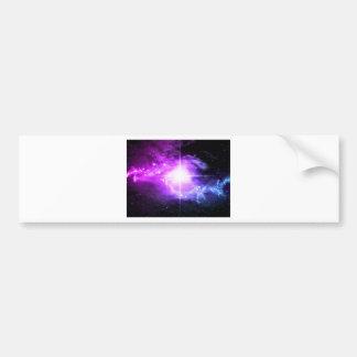 Purple Outer Space Bumper Sticker