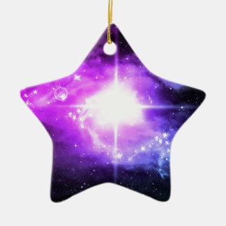 Purple Outer Space Ceramic Star Decoration