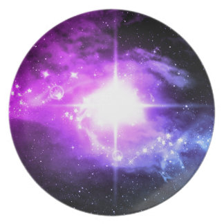 Purple Outer Space Plate