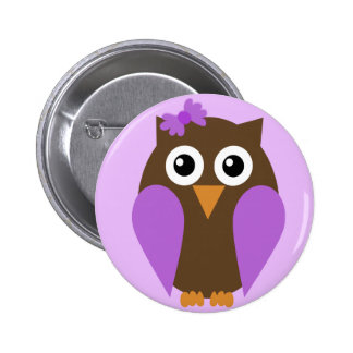 Purple Owl & A Bow Button