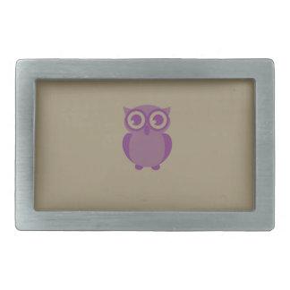 Purple Owl Belt Buckle