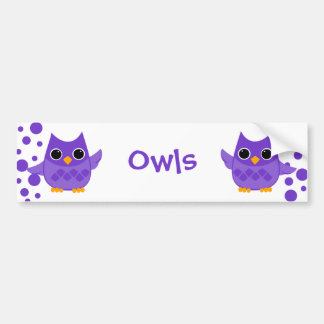 Purple Owl Bumper Sticker