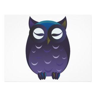 Purple owl cartoon 21.5 cm x 28 cm flyer