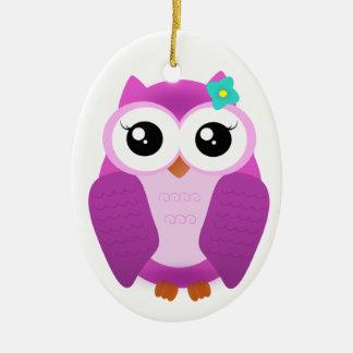 Purple Owl Christmas Ornament