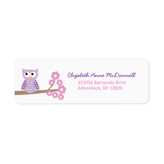 Purple Owl Custom Address Labels