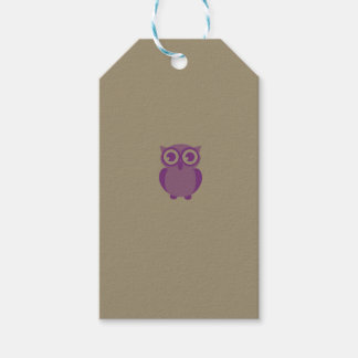 Purple Owl Gift Tags