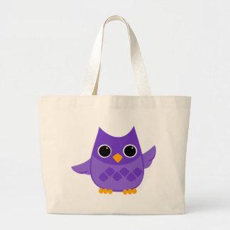 Purple Owl Jumbo Tote Bag