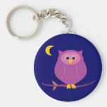 Purple Owl Key Chain