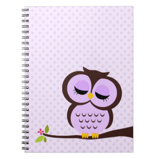 Purple Owl Notebook