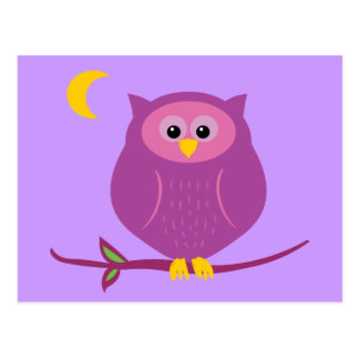 Purple Owl Postcard