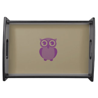 Purple Owl Serving Tray