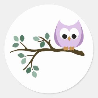 Purple Owl Stickers