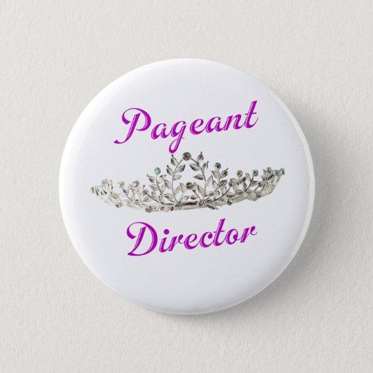 Purple Pageant Director 6 Cm Round Badge