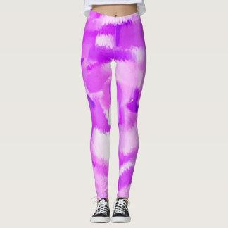 Purple Paint Splatter #3 Leggings