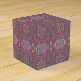 purple paint swirls gift box