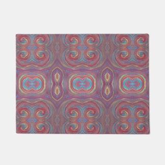 purple paint swirls welcome mat