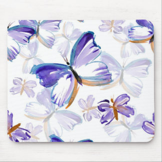 Purple Painted Butterflies Mousepad