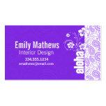 Purple Paisley; Aloha, Hibiscus Business Card Templates