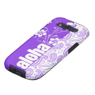 Purple Paisley; Aloha, Hibiscus Samsung Galaxy SIII Cover