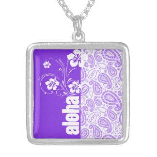 Purple Paisley Aloha Hibiscus Custom Jewelry