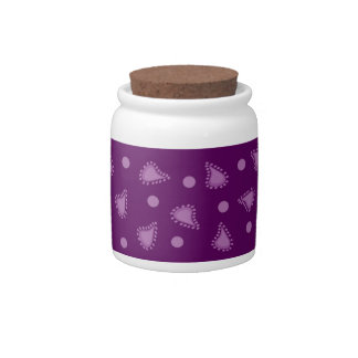 Purple Paisley Candy Sugar Jar Candy Jar