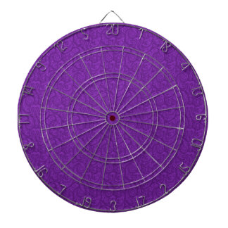 Purple Paisley Dartboard