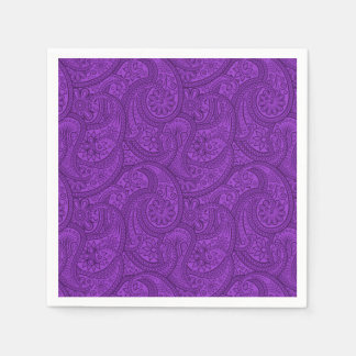 Purple Paisley Disposable Napkin