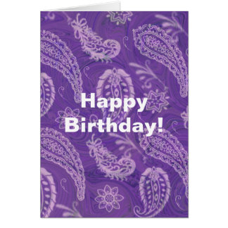 Purple Paisley Greeting Card
