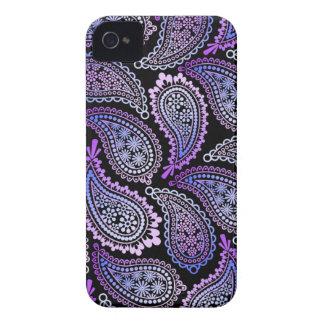 Purple Paisley iPhone 4/4S Case